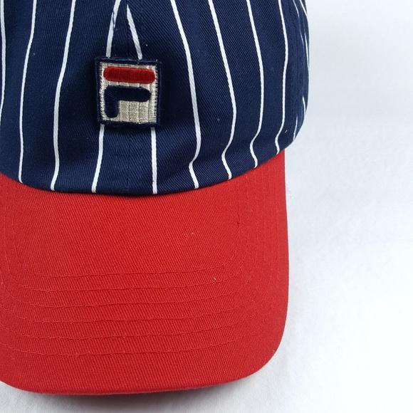 197133bad3b Fila Vintage Pinstripe Baseball Snapback Hat